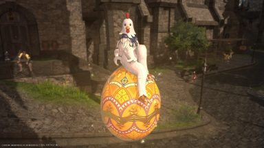 She's a giant chicken!